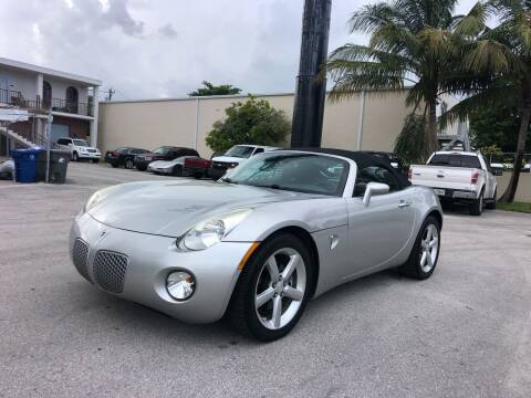 2009 Pontiac Solstice for sale at Florida Cool Cars in Fort Lauderdale FL