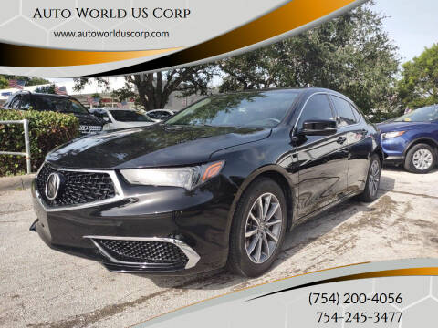 2018 Acura TLX for sale at Auto World US Corp in Plantation FL