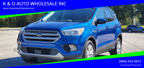 2018 Ford Escape for sale at K & O AUTO WHOLESALE INC in Jacksonville FL