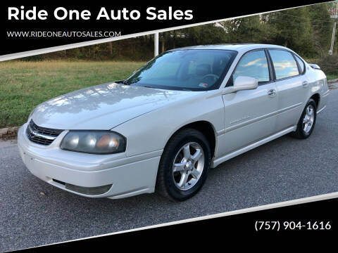 2004 Chevrolet Impala for sale at Ride One Auto Sales in Norfolk VA