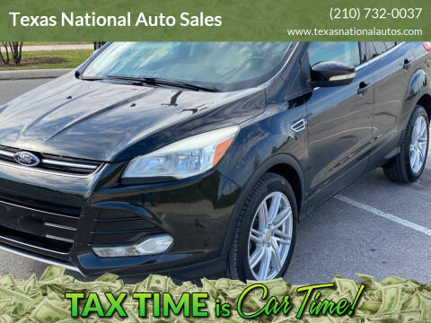 2013 Ford Escape for sale at Texas National Auto Sales in San Antonio TX