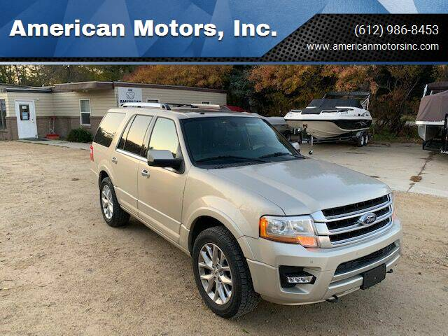 2017 Ford Expedition for sale at American Motors, Inc. in Farmington MN