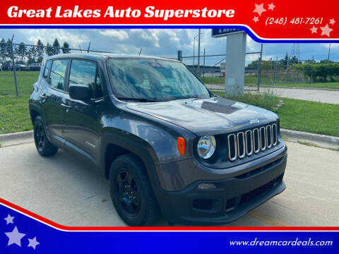 2017 Jeep Renegade for sale at Great Lakes Auto Superstore in Pontiac MI