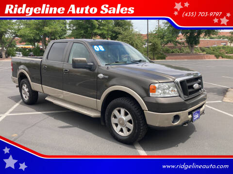 2008 Ford F-150 for sale at Ridgeline Auto Sales in Saint George UT