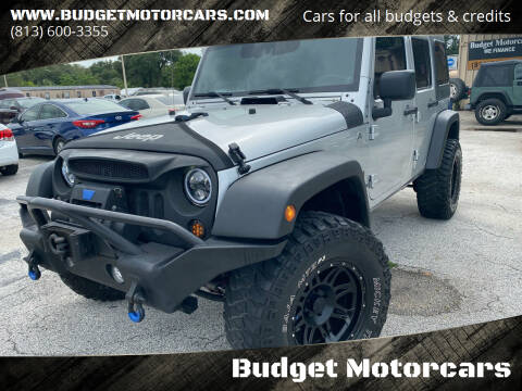 2008 Jeep Wrangler Unlimited for sale at Budget Motorcars in Tampa FL
