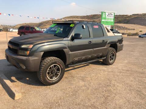 2003 Chevrolet Avalanche for sale at Hilltop Motors in Globe AZ