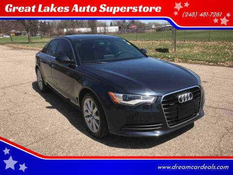 2015 Audi A6 for sale at Great Lakes Auto Superstore in Waterford Township MI