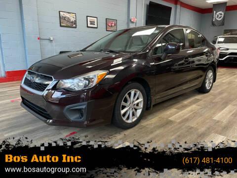 2012 Subaru Impreza for sale at Bos Auto Inc in Quincy MA