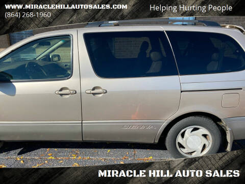 2003 Toyota Sienna for sale at MIRACLE HILL AUTO SALES in Greenville SC