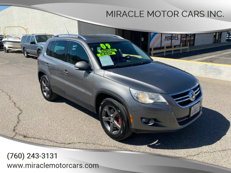 2009 Volkswagen Tiguan for sale at Miracle Motor Cars Inc. in Victorville CA