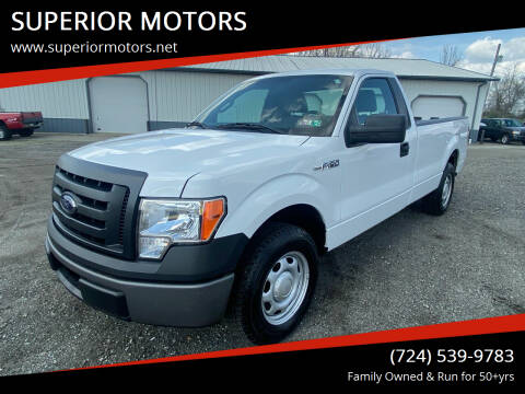 2012 Ford F-150 for sale at SUPERIOR MOTORS in Latrobe PA