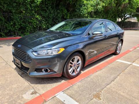 2015 Ford Fusion Hybrid for sale at DFW Autohaus in Dallas TX