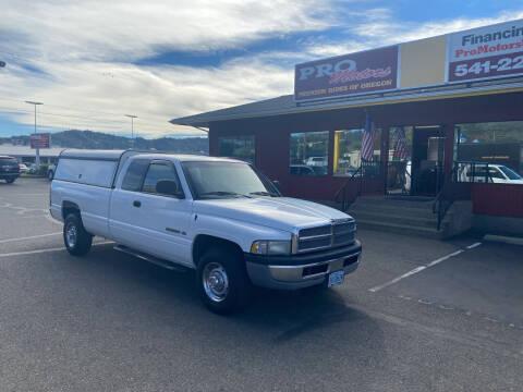 2001 Dodge Ram Pickup 2500 for sale at Pro Motors in Roseburg OR
