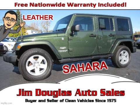 2008 Jeep Wrangler Unlimited for sale at Jim Douglas Auto Sales in Pontiac MI