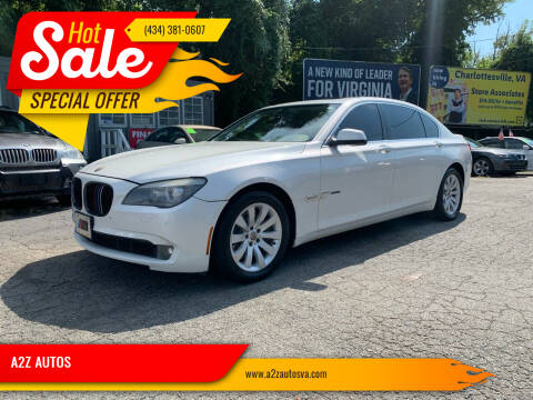 2009 BMW 7 Series for sale at A2Z AUTOS in Charlottesville VA
