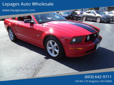 2007 Ford Mustang for sale at Lepages Auto Wholesale in Kingston NH