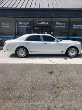 2014 Bentley Mulsanne for sale at Georgia Certified Motors in Stockbridge GA
