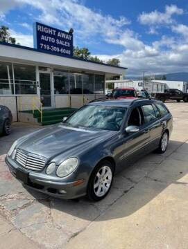 2005 Mercedes-Benz E-Class for sale at Right Away Auto Sales in Colorado Springs CO
