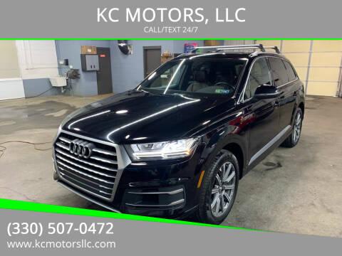 2017 Audi Q7 for sale at KC MOTORS, LLC in Boardman OH