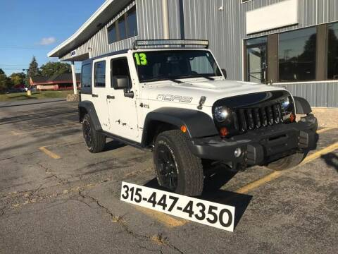 2013 Jeep Wrangler Unlimited for sale at Dominic Sales LTD in Syracuse NY