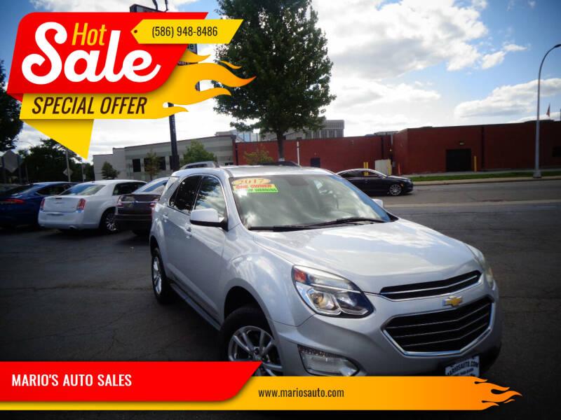 2017 Chevrolet Equinox for sale at MARIO'S AUTO SALES in Mount Clemens MI