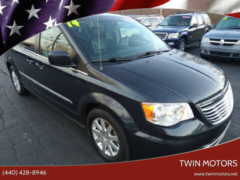 2014 Chrysler Town and Country for sale at TWIN MOTORS in Madison OH