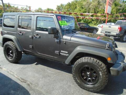 2017 Jeep Wrangler Unlimited for sale at River City Auto Sales in Cottage Hills IL