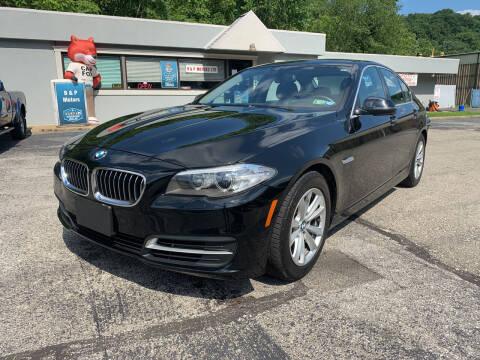 2014 BMW 5 Series for sale at B & P Motors LTD in Glenshaw PA