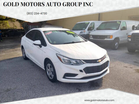 2017 Chevrolet Cruze for sale at Gold Motors Auto Group Inc in Tampa FL