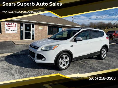 2013 Ford Escape for sale at Sears Superb Auto Sales in Corbin KY