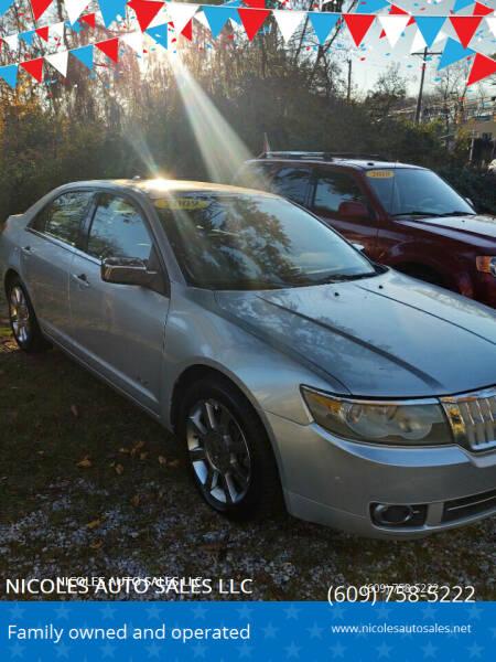 2009 Lincoln MKZ for sale at NICOLES AUTO SALES LLC in Cream Ridge NJ