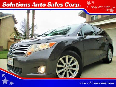 2009 Toyota Venza for sale at Solutions Auto Sales Corp. in Orange CA