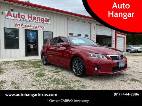 2012 Lexus CT 200h for sale at Auto Hangar in Azle TX