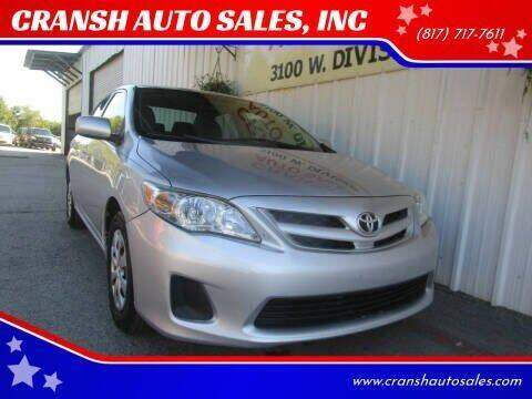 2011 Toyota Corolla for sale at CRANSH AUTO SALES, INC in Arlington TX