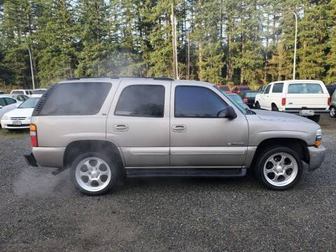 2003 Chevrolet Tahoe for sale at WILSON MOTORS in Spanaway WA