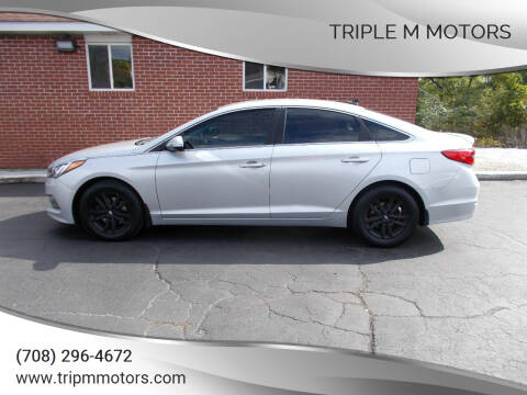 2015 Hyundai Sonata for sale at Triple M Motors in Saint John IN