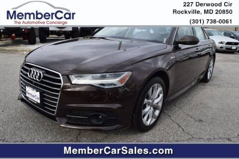 2017 Audi A6 for sale at MemberCar in Rockville MD