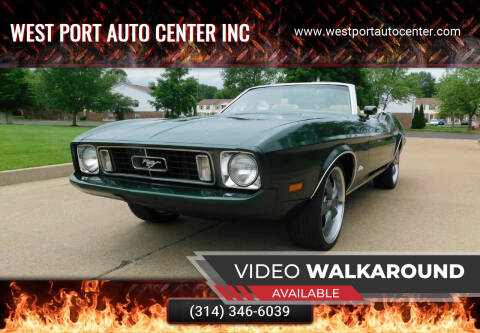 1973 Ford Mustang for sale at WEST PORT AUTO CENTER INC in Fenton MO