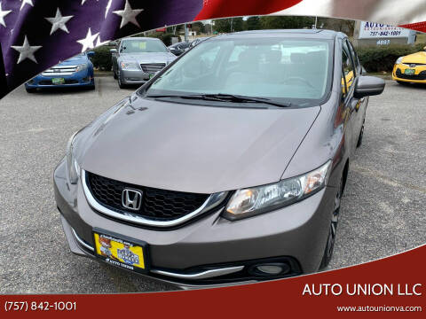 2014 Honda Civic for sale at Auto Union LLC in Virginia Beach VA