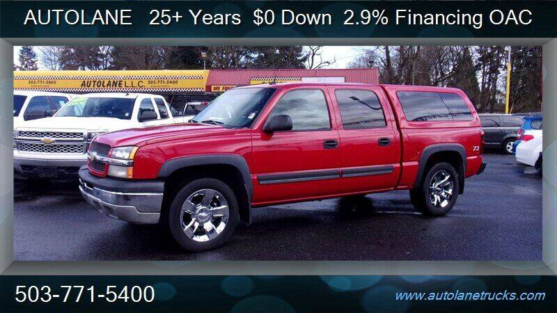 2004 Chevrolet Silverado 1500 for sale at Auto Lane in Portland OR