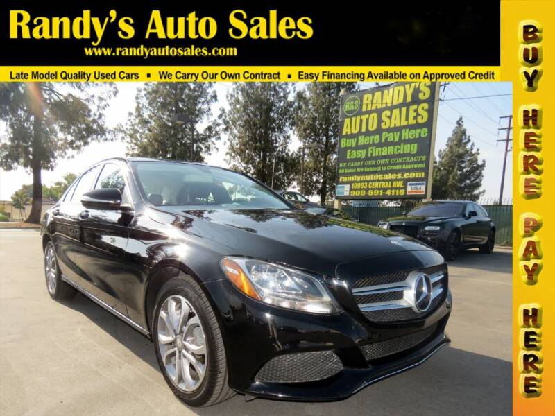 2015 Mercedes-Benz C-Class for sale at Randy's Auto Sales in Ontario CA
