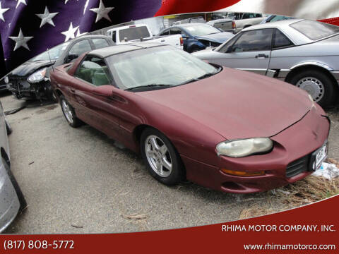 2000 Chevrolet Camaro for sale at Rhima Motor Company, Inc. in Haltom City TX