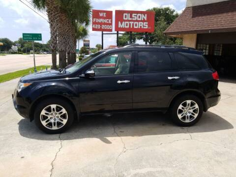 2009 Acura MDX for sale at Olson Motors LLC in Saint Augustine FL