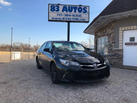 2016 Toyota Camry for sale at 83 Autos in York PA