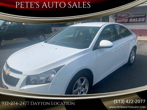2014 Chevrolet Cruze for sale at PETE'S AUTO SALES LLC - Dayton in Dayton OH