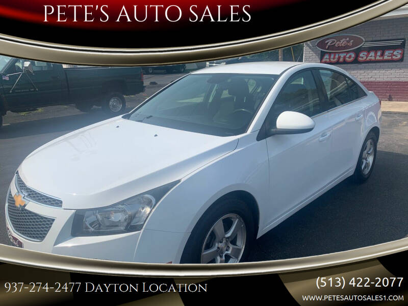 2014 Chevrolet Cruze for sale at PETE'S AUTO SALES - Dayton in Dayton OH