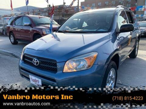 2006 Toyota RAV4 for sale at Vanbro Motors Inc in Staten Island NY