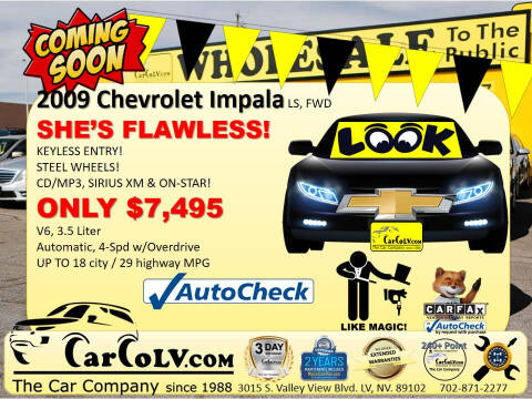 2009 Chevrolet Impala for sale at The Car Company in Las Vegas NV