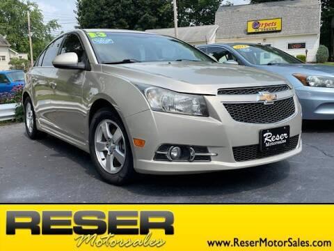 2013 Chevrolet Cruze for sale at Reser Motorsales in Urbana OH