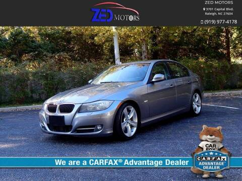 2009 BMW 3 Series for sale at Zed Motors in Raleigh NC